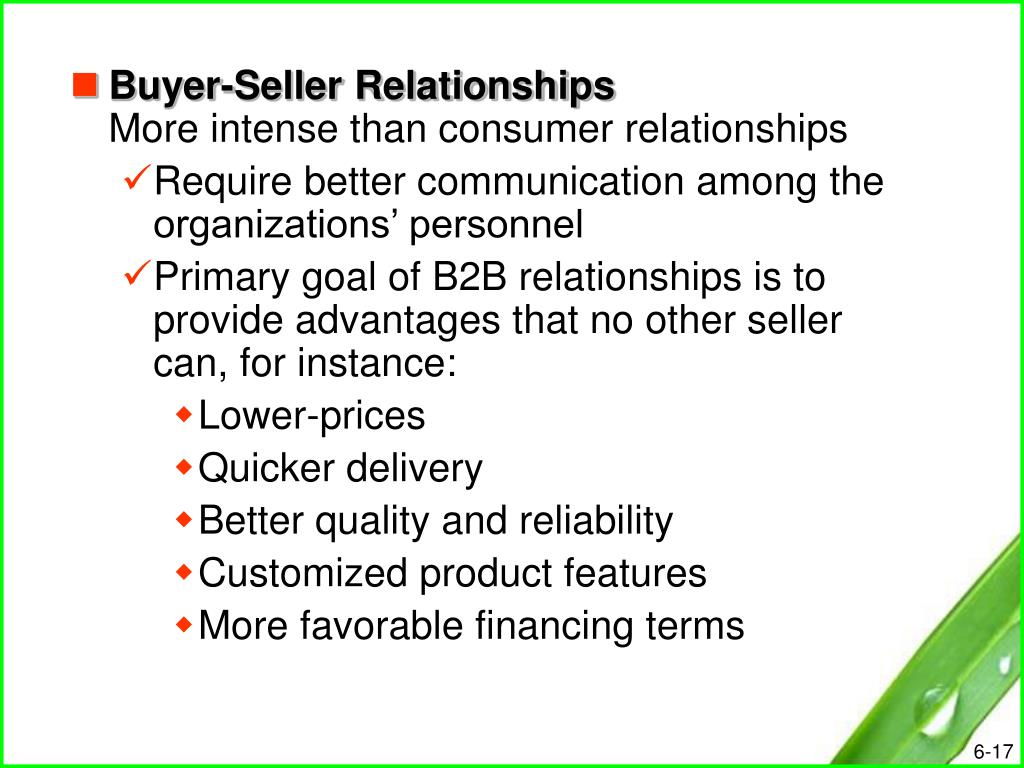 buyer and seller relationship in the
