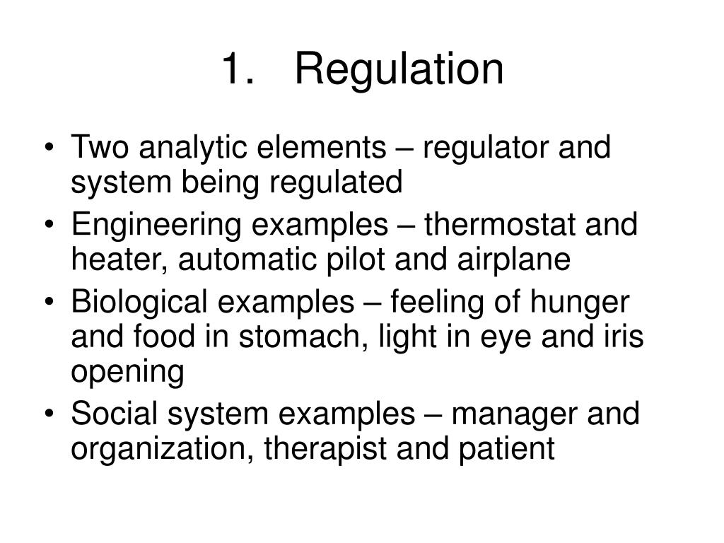 1.   Regulation