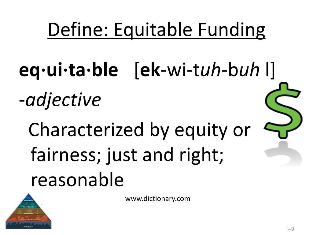 Define: Equitable Funding