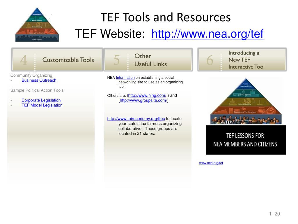 TEF Tools and Resources