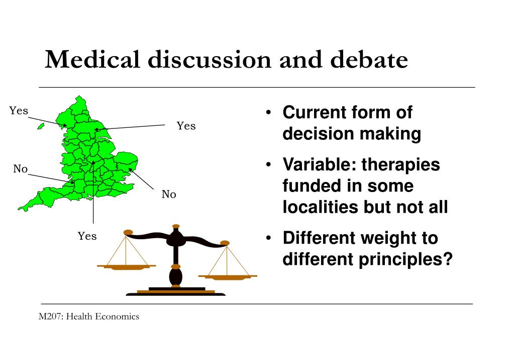 Medical discussion and debate