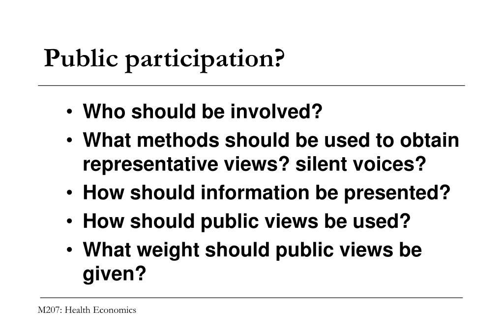 Public participation?