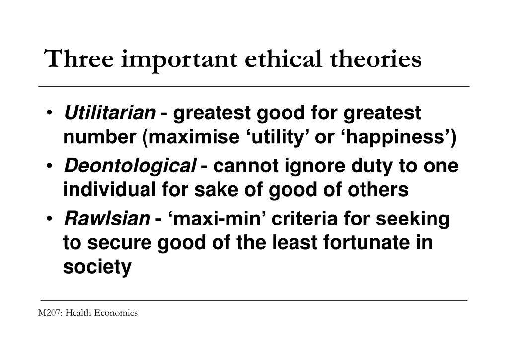 Three important ethical theories