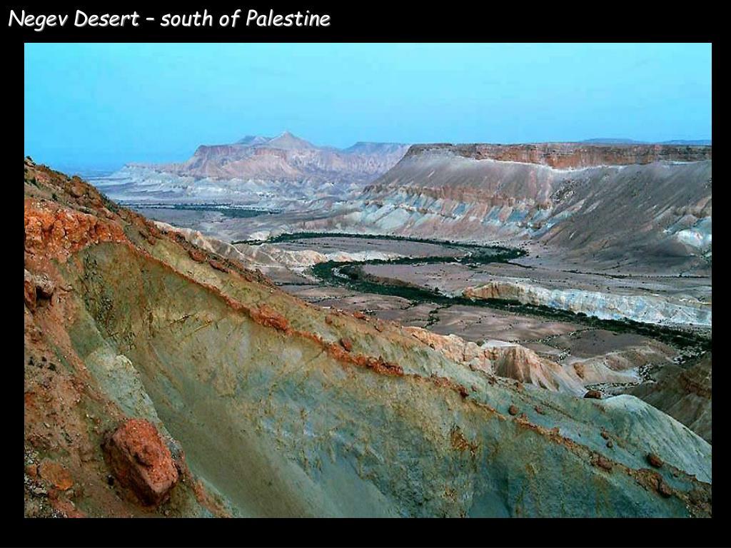 Negev Desert – south of Palestine
