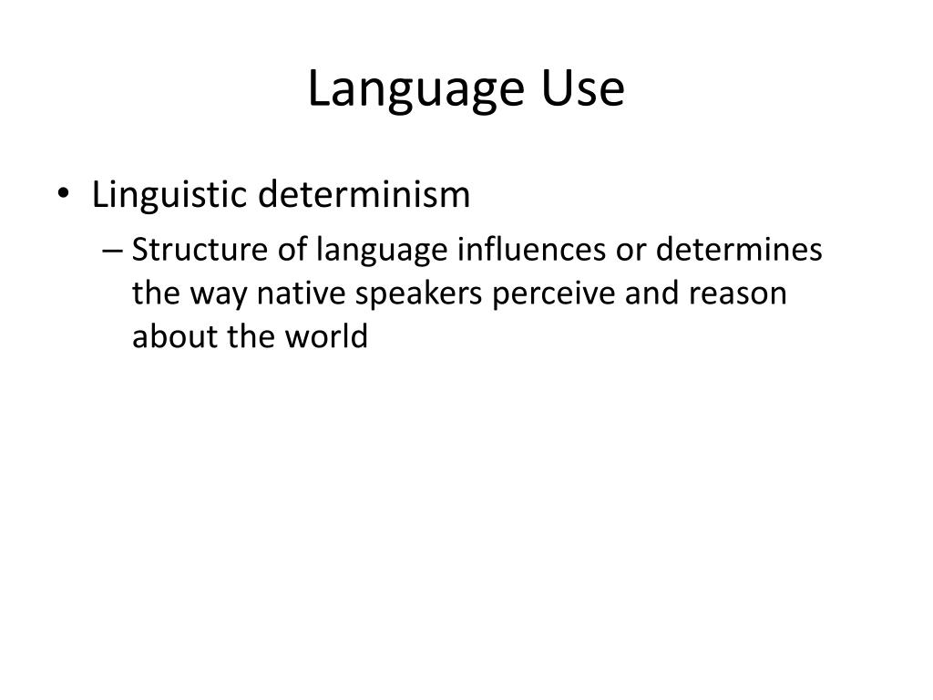 Language Use
