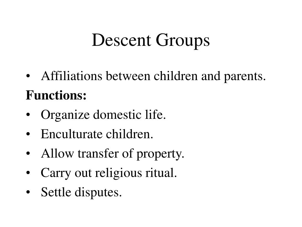 Descent Groups