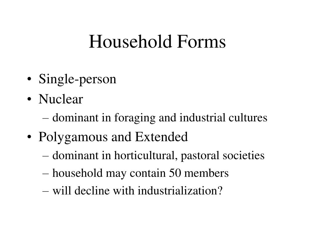 Household Forms