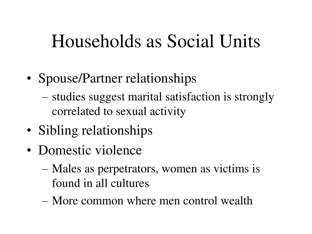 Households as Social Units
