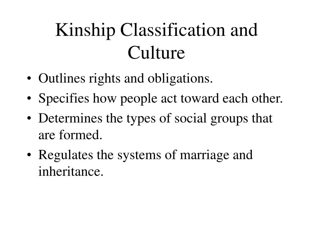 Kinship Classification and Culture