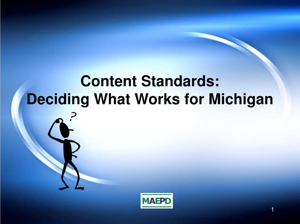 Content Standards: