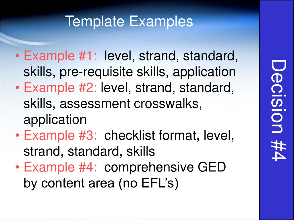 Template Examples