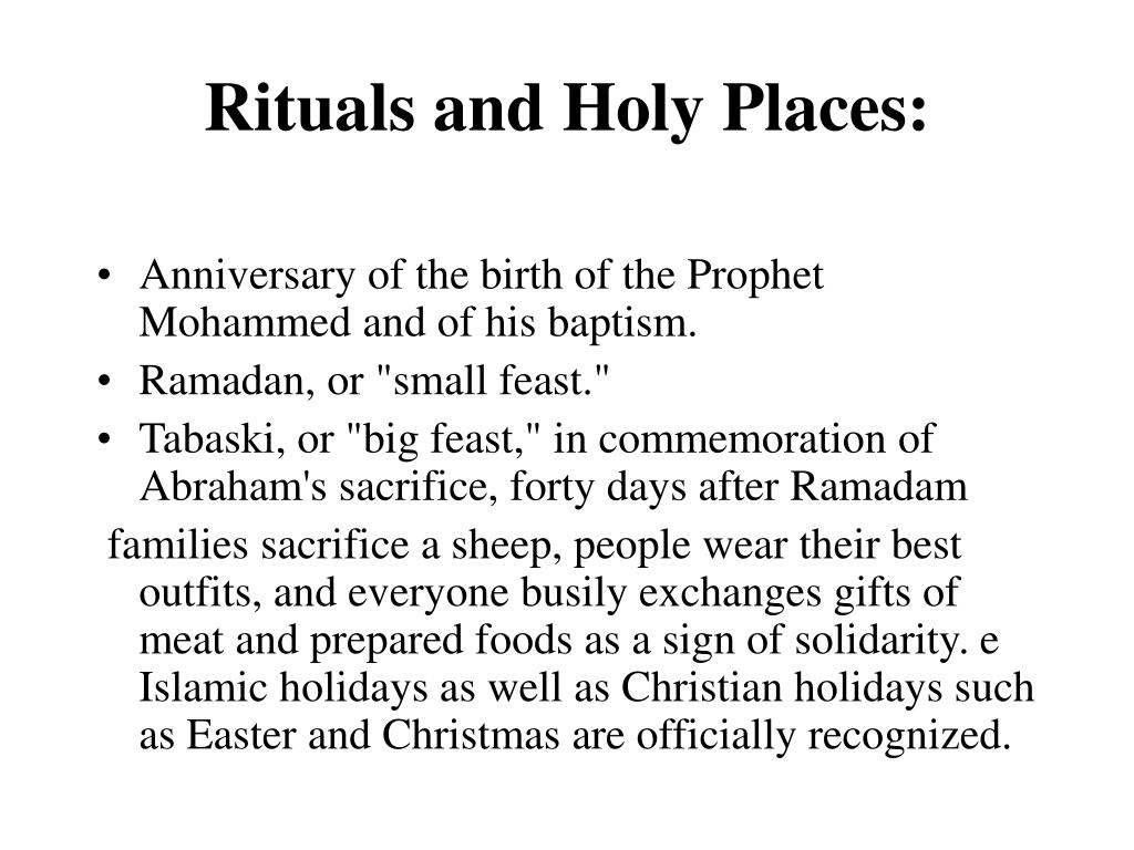 Rituals and Holy Places:
