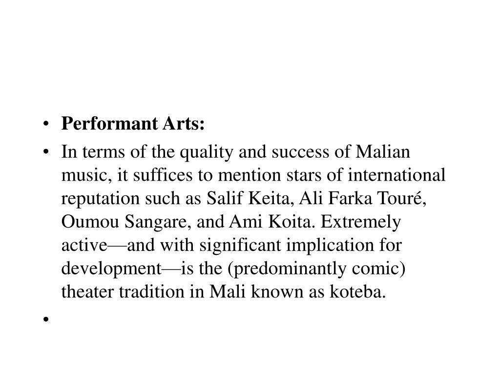 Performant Arts: