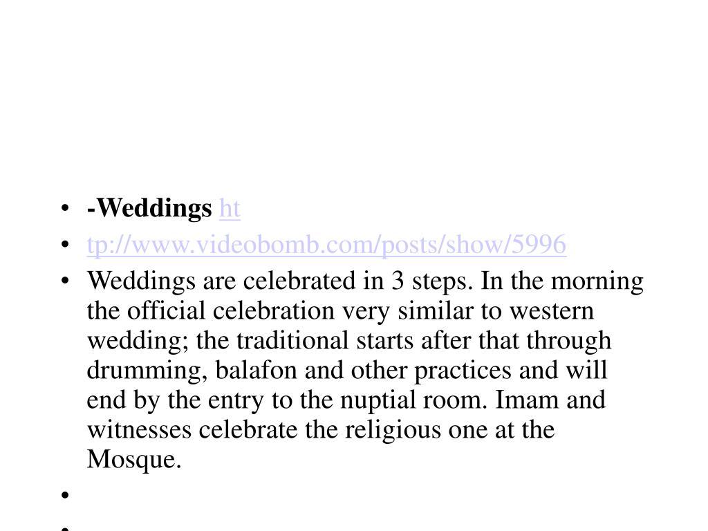 -Weddings