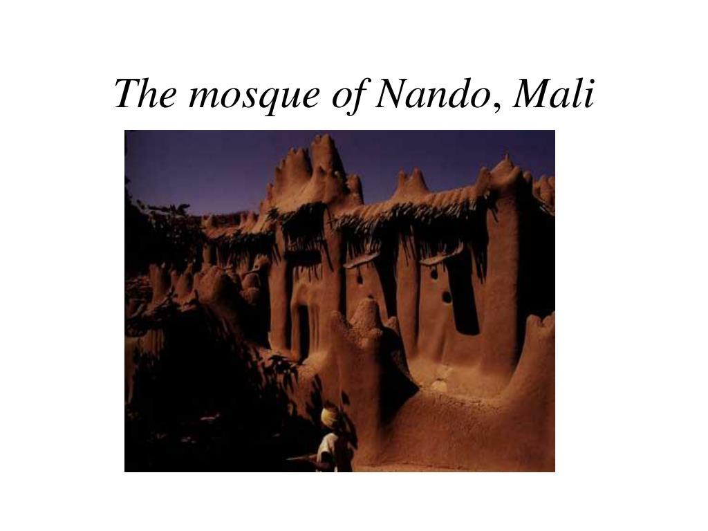 The mosque of Nando