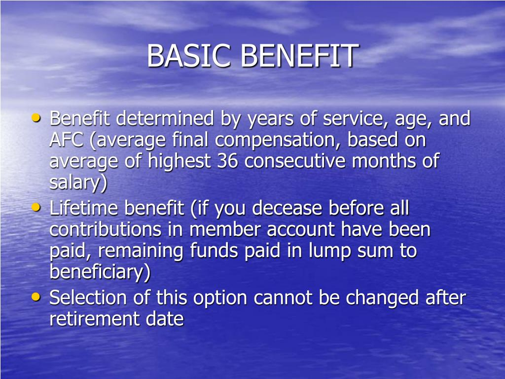 BASIC BENEFIT