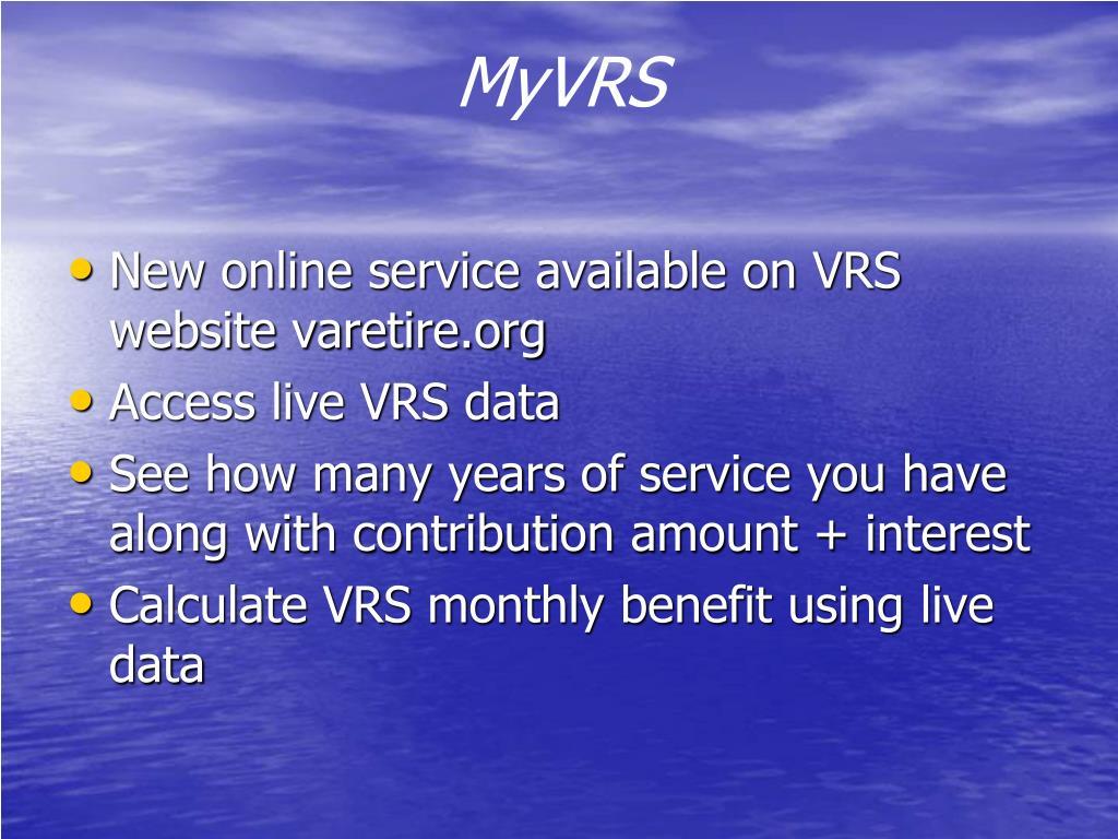 MyVRS