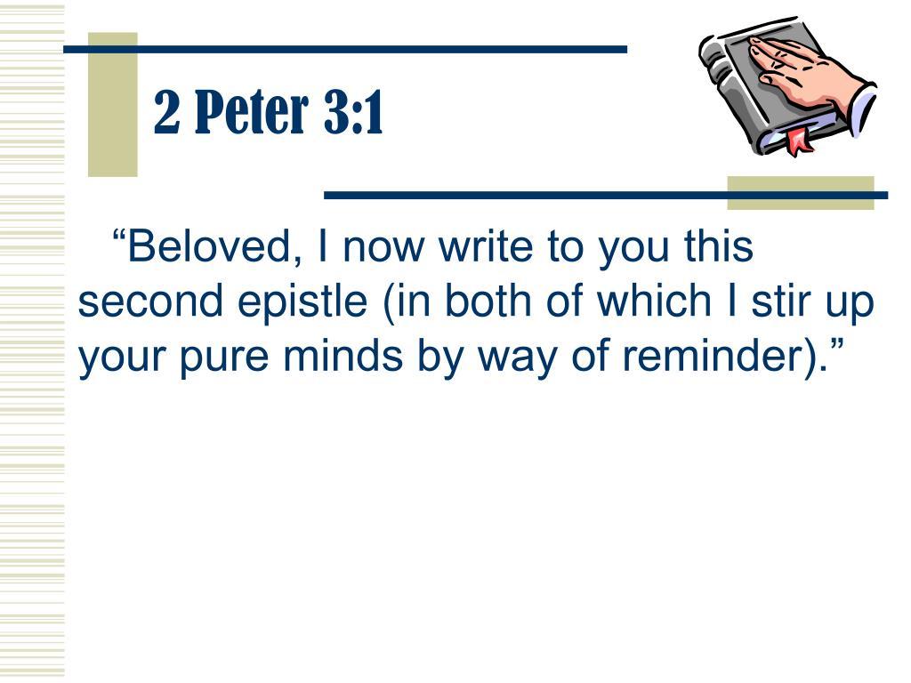 2 Peter 3:1
