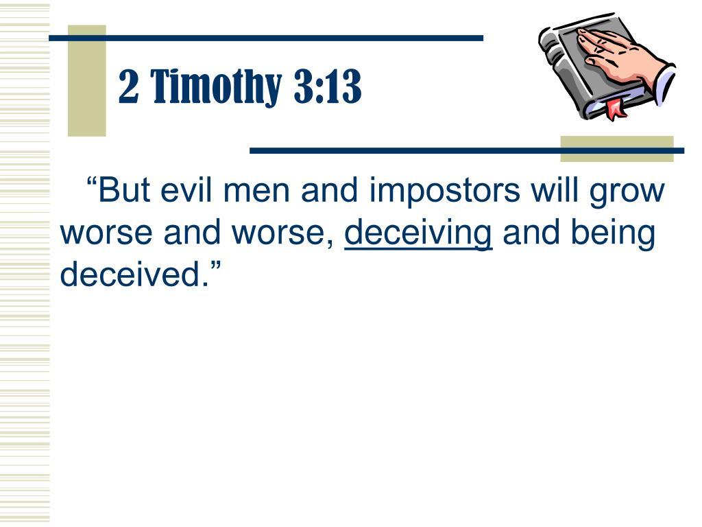 2 Timothy 3:13