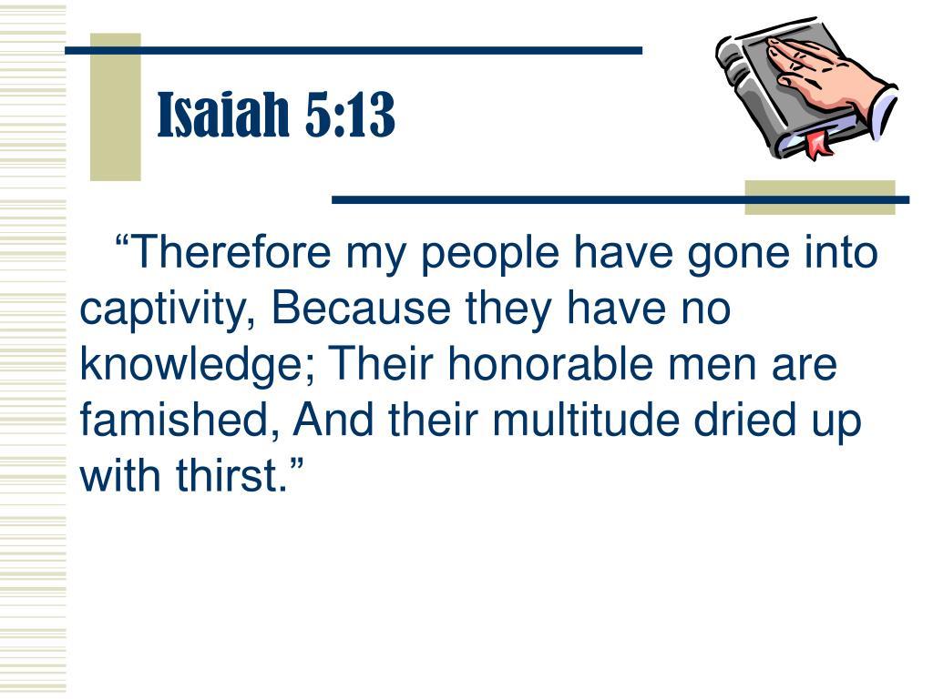 Isaiah 5:13