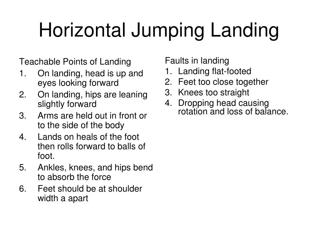 Teachable Points of Landing