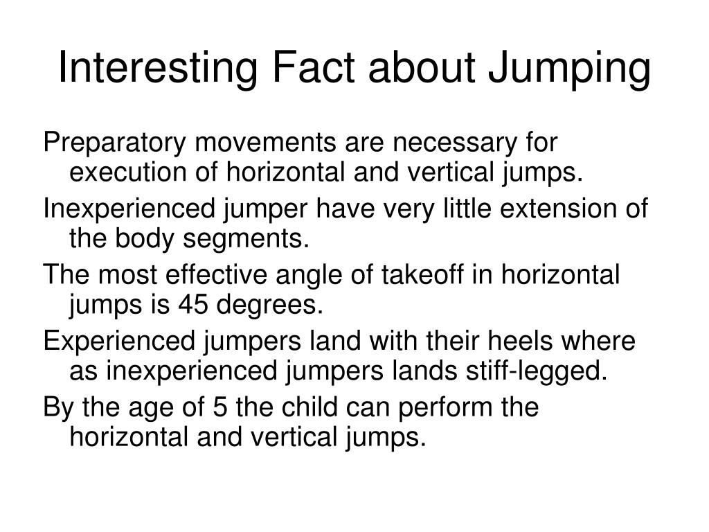 Interesting Fact about Jumping
