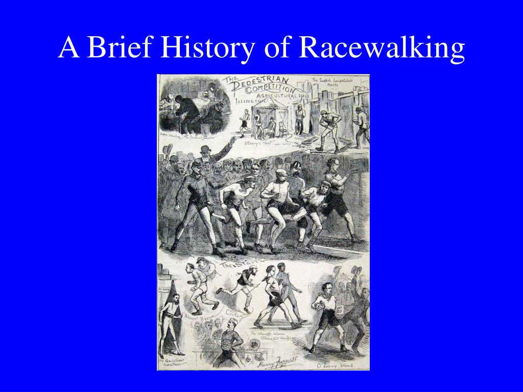 A Brief History of Racewalking