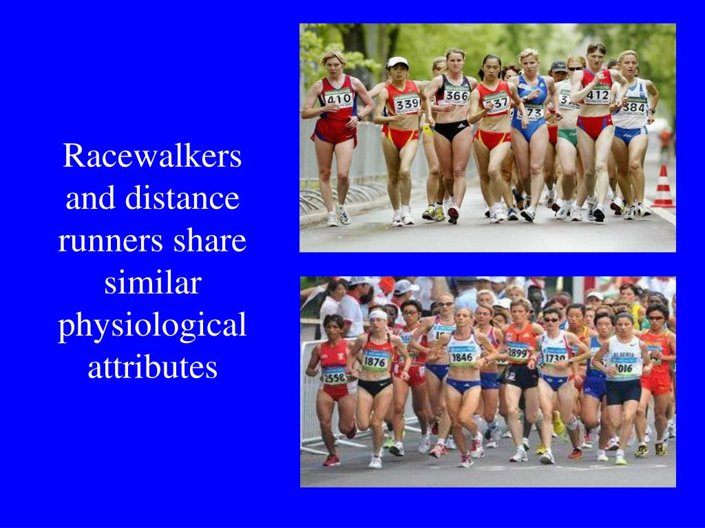 Racewalkers and distance runners share similar physiological attributes