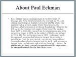 about paul eckman