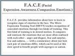 f a c e facial expression awareness compassion emotions