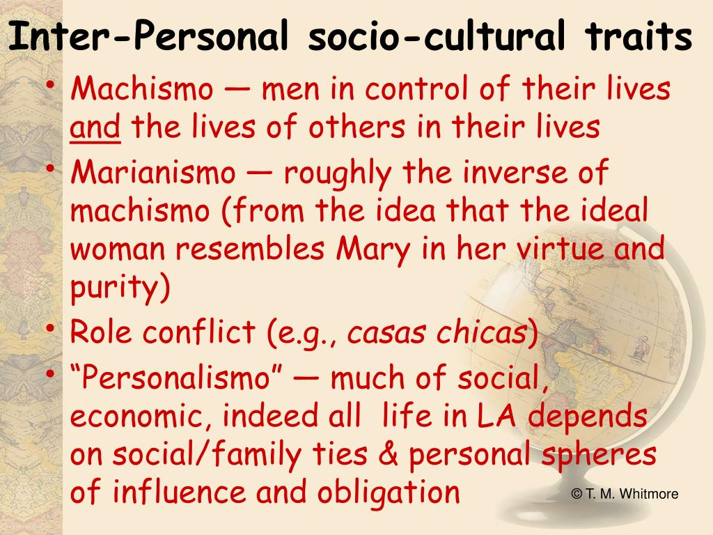 Inter-Personal socio-cultural traits