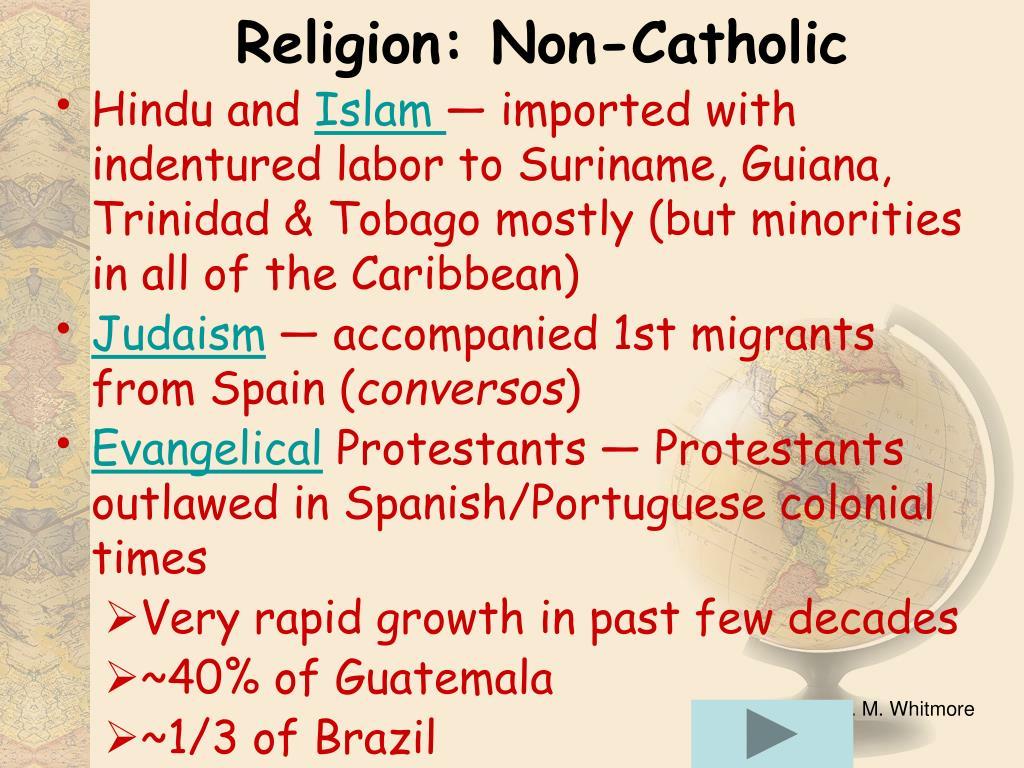 Religion: Non-Catholic