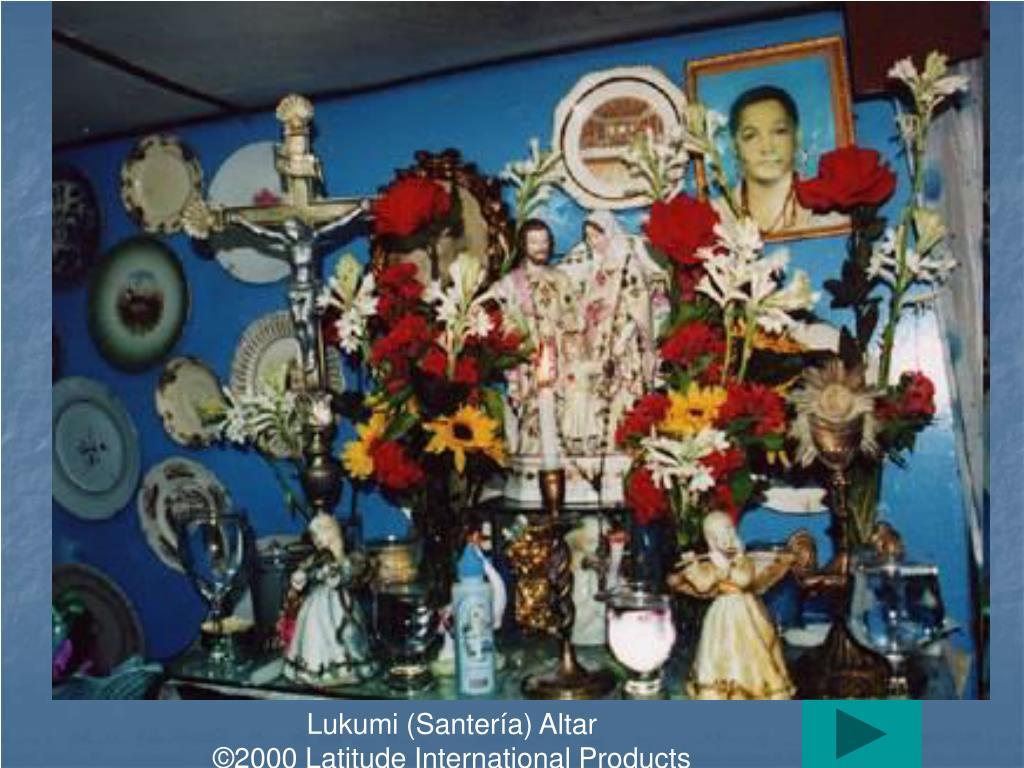 Lukumi (Santería) Altar