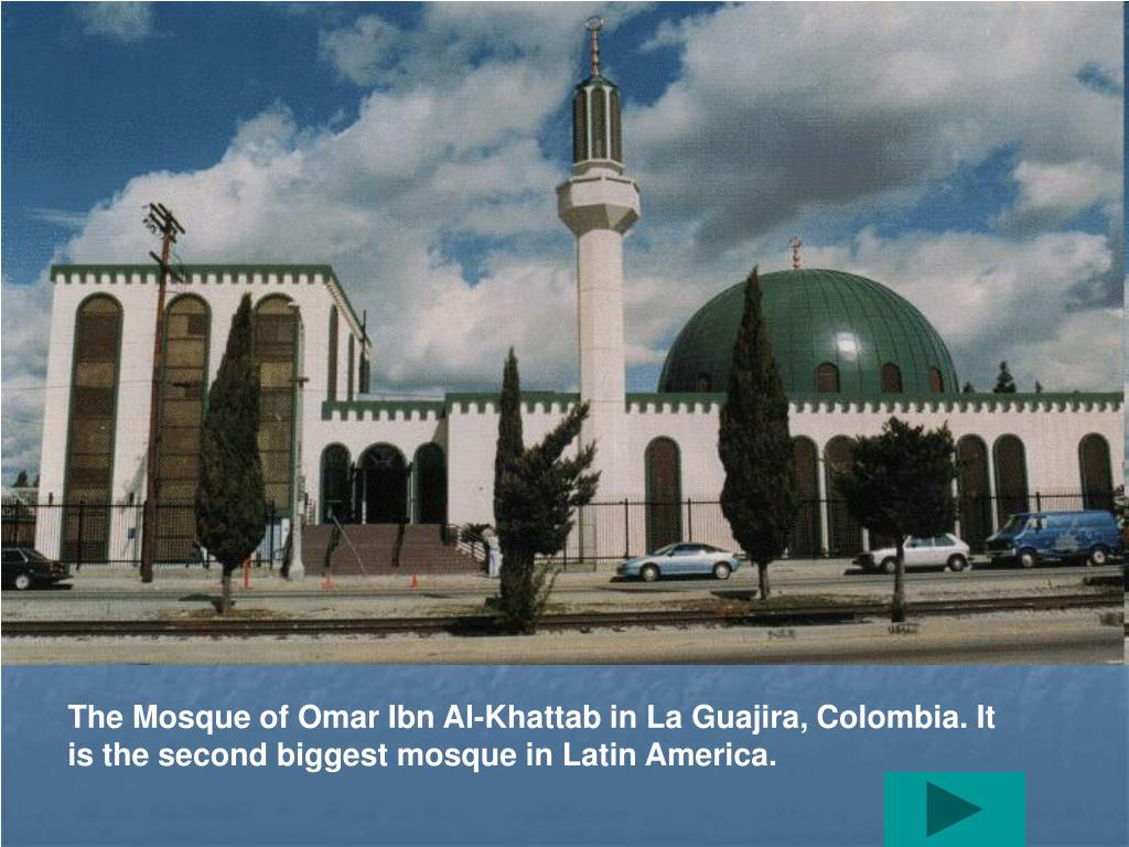 The Mosque of Omar Ibn Al-Khattab in La Guajira, Colombia. It is the second biggest mosque in Latin America.
