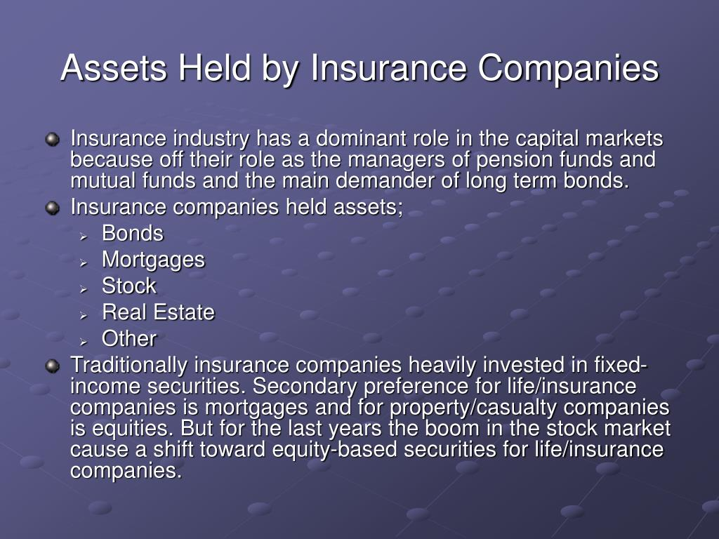 Assets Held by Insurance Companies