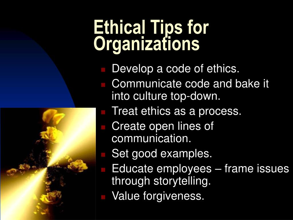 Ethical Tips for Organizations