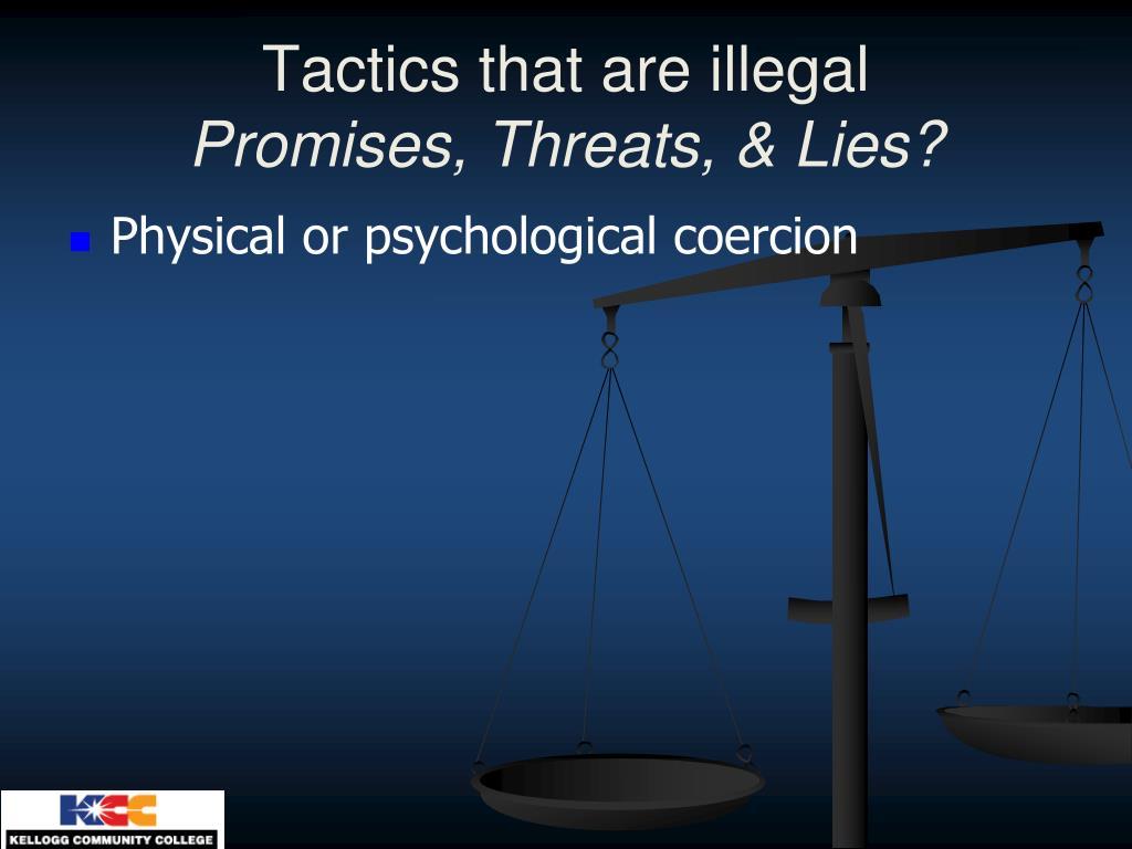 Tactics that are illegal