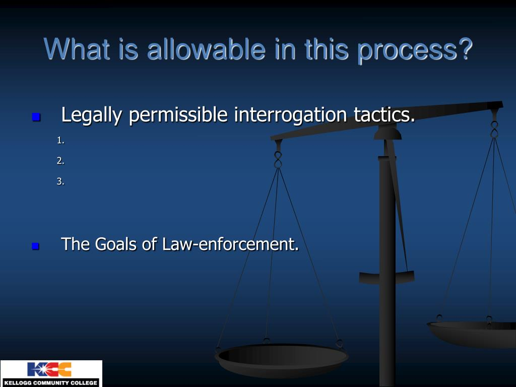 What is allowable in this process?