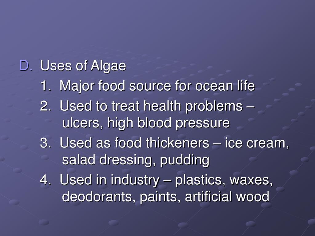 Uses of Algae