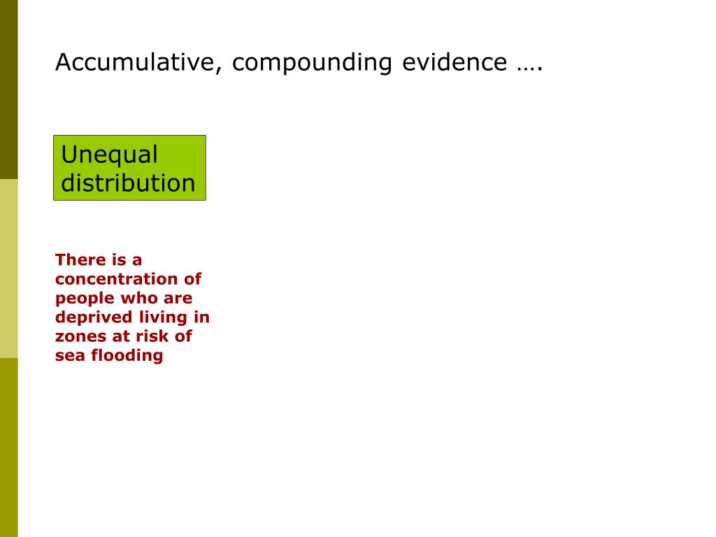Accumulative, compounding evidence ….