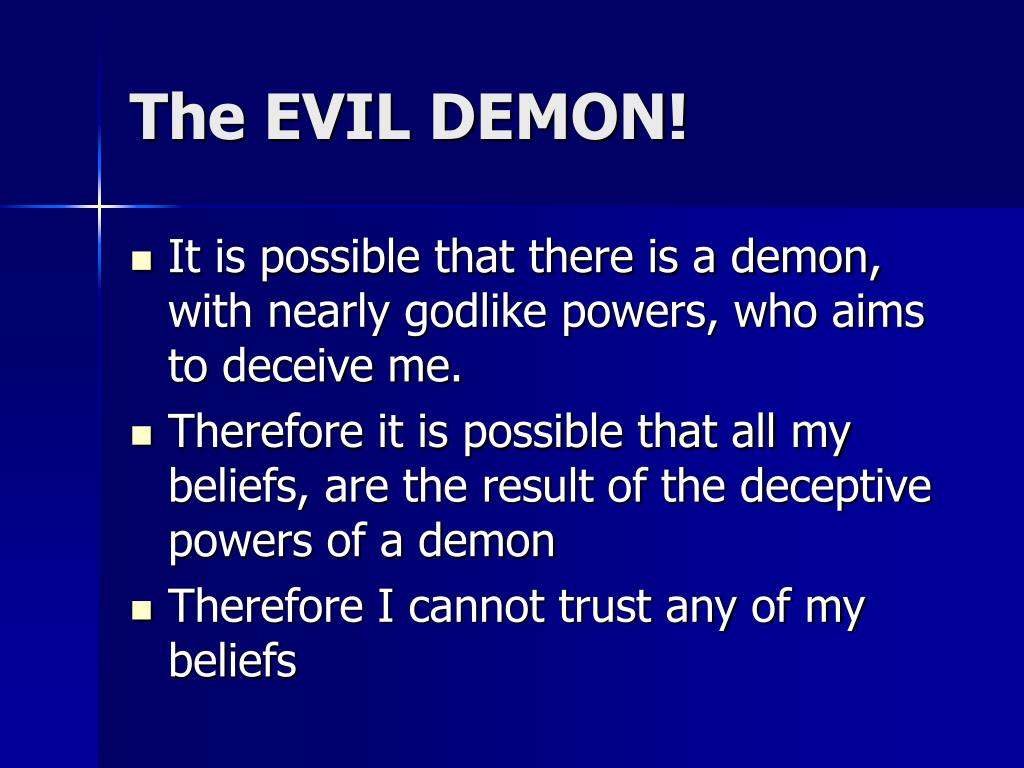 The EVIL DEMON!