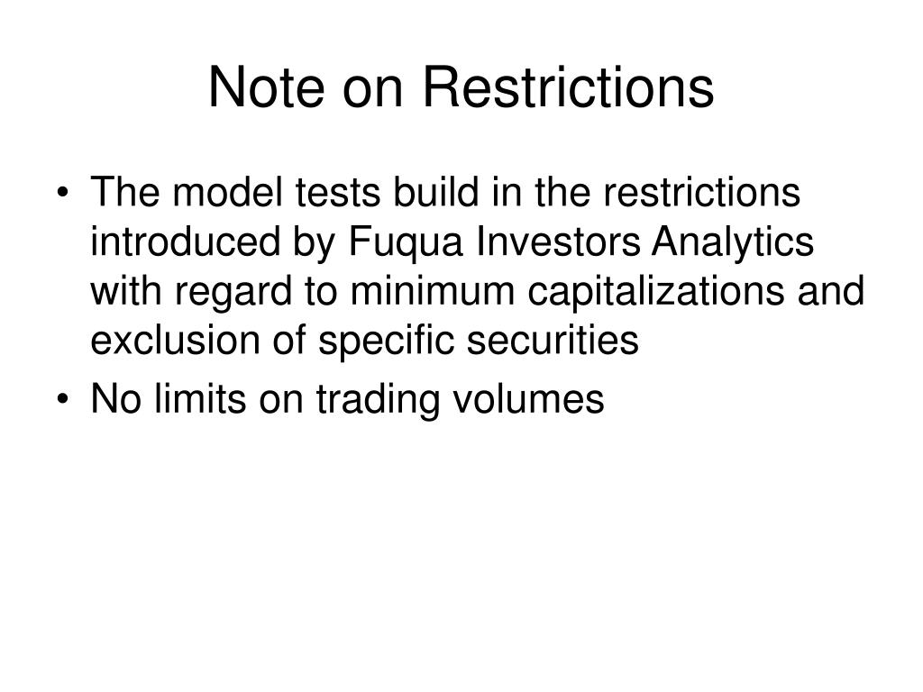 Note on Restrictions