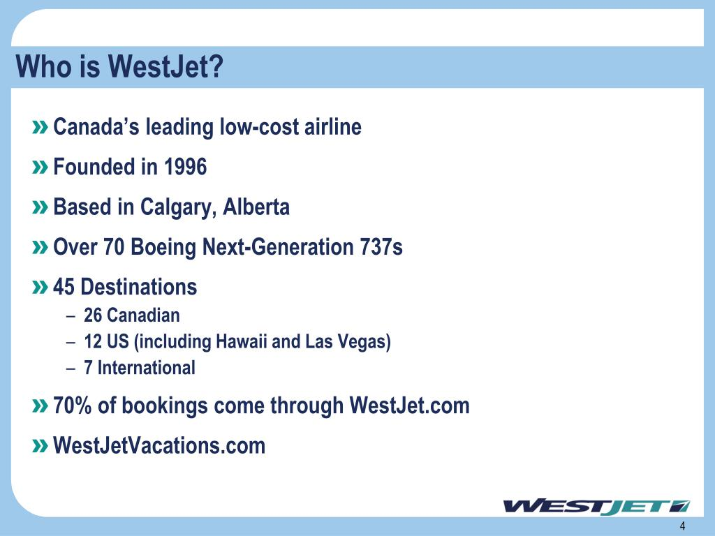 Who is WestJet?