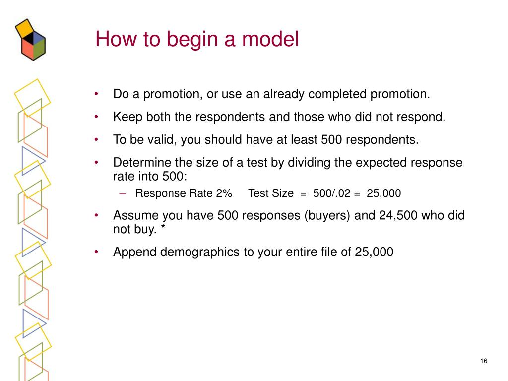How to begin a model