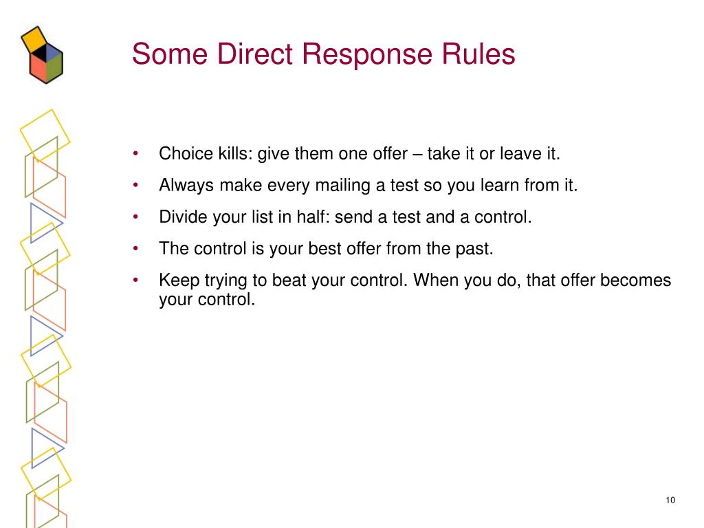 Some Direct Response Rules