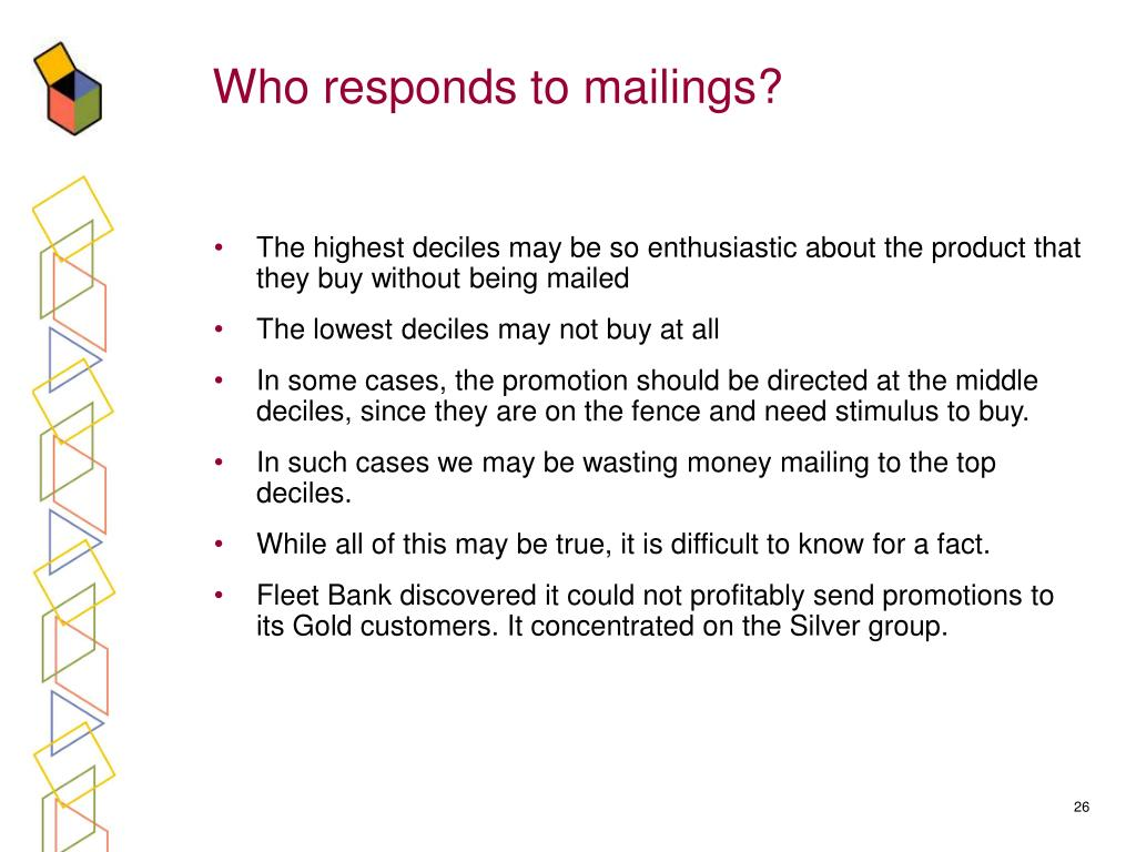 Who responds to mailings?