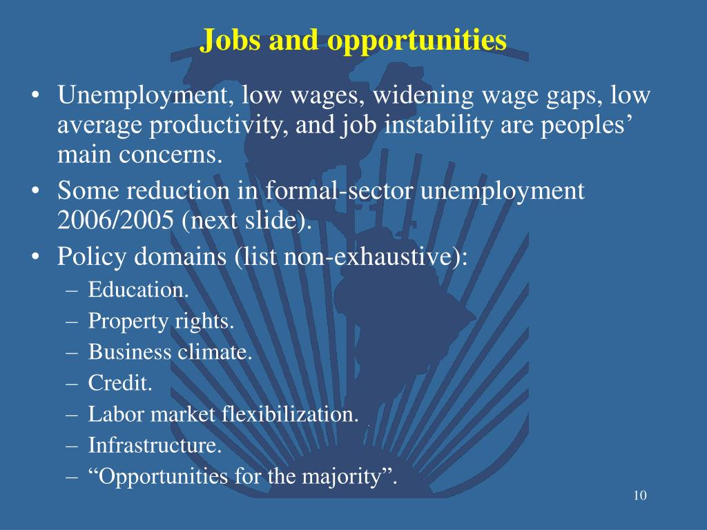 Jobs and opportunities