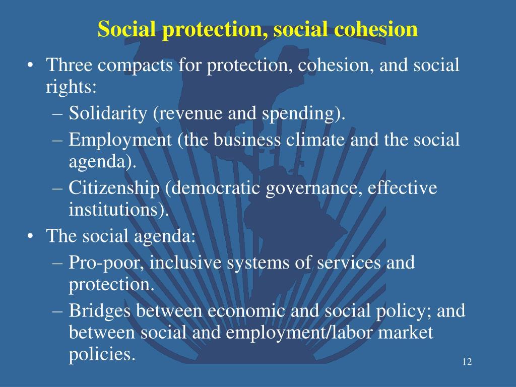 Social protection, social cohesion