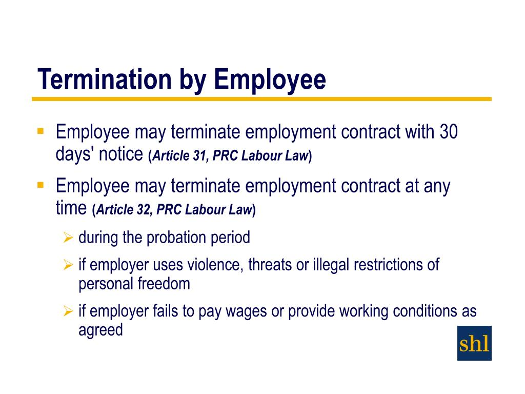 article on the subject of firing for employment