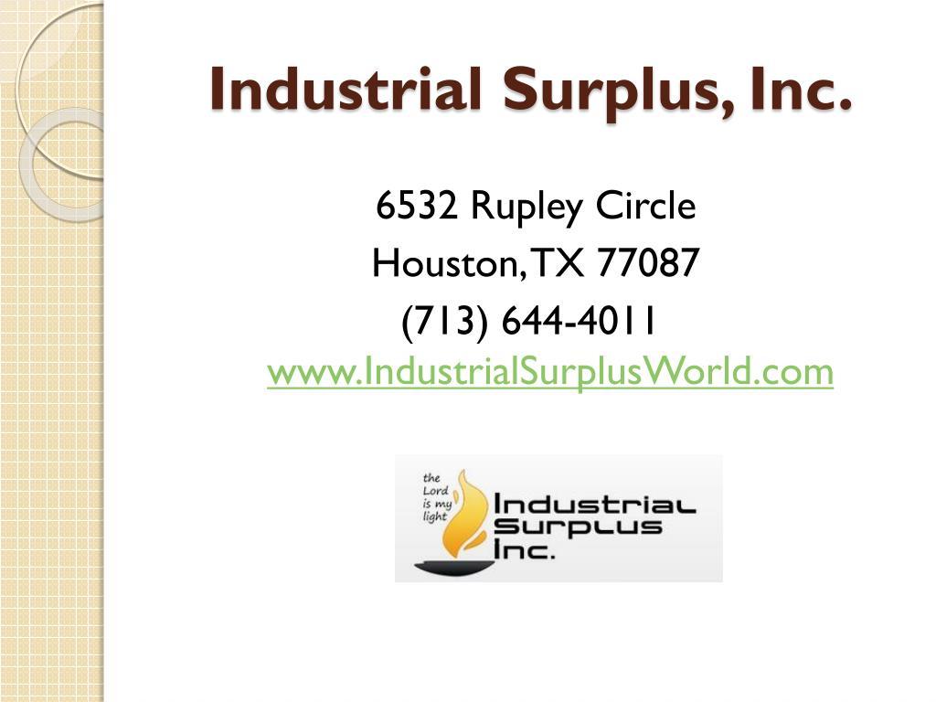 Industrial Surplus, Inc.